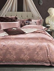 cheap -New bedding  Luxury Silk Cotton Blend Duvet Cover Sets Queen King Size Bedding Set