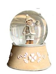 abordables -Balles Boîte à musique Jouets Articles d'ameublement Circulaire Cristal Romantique Pièces Unisexe Garçon Anniversaire Cadeau