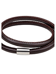 cheap -Men's Women's Leather Bracelet Fashion Simple Style Leather Circle Jewelry For Daily Going out