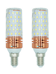 cheap -BRELONG E14 84 SMD 2835 16W Corn Light Bulb White / Warm white / Dual light source color AC220 - 240V 2PCS