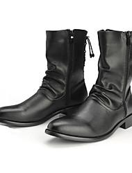 baratos -Masculino sapatos Pele Real Outono Inverno Coturnos Conforto Inovador Botas da Moda Curta/Ankle Botas Botas Curtas / Ankle Para Casamento
