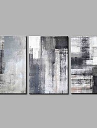 economico -Hang-Dipinto ad olio Dipinta a mano - Astratto Semplice Modern Tela