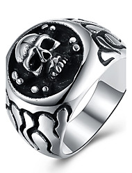 Women's Knuckle Ring Hip-Hop Personalized Stainless Steel Titanium Steel Skull Jewelry For Halloween Street