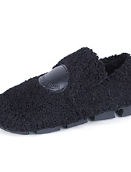 cheap -Women's Shoes Knit Cashmere Winter Comfort Loafers & Slip-Ons Flat Heel Round Toe For Casual Green Brown Black