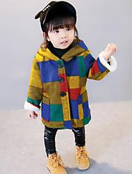 cheap -Girls' Color Block Jacket & Coat Winter Fall Long Sleeve Rainbow