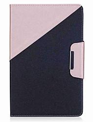 Недорогие -цветной блок шаблон держатель карты кошелек с подставкой флип магнитный кожаный чехол pu для Samsung Galaxy Tab e 9.6 t560 t561