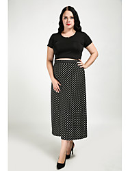 11b2fc47c511 Χαμηλού Κόστους Φούστες-Γυναικεία Μεγάλα Μεγέθη Γραμμή Α Δουλειά   Κλαμπ  Βαμβάκι Φούστες - Πουά
