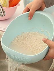 Plastic Rice Washer Kitchen Clean Rice Vegetable Fruit Bowl Drain Basket Cooking Tools