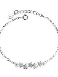 abordables -Femme Chaînes & Bracelets Zircon Argent sterling Forme d'Etoile Bijoux Pour Mariage Soirée