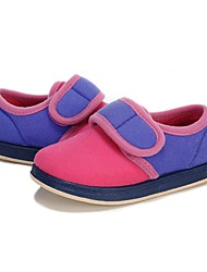 cheap -Girls' Shoes Fleece Spring Fall First Walkers Comfort Loafers & Slip-Ons Magic Tape Split Joint for Casual Light Purple