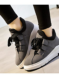 Damen Schuhe Leder Herbst Winter Komfort Sneakers Für Normal Schwarz Grau Khaki