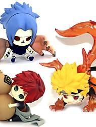 economico -Figure Anime Azione Ispirato da Naruto Sasuke Uchiha PVC 5-7 CM Giocattoli di modello Bambola giocattolo
