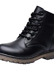 cheap -Boys' Shoes Leather Fall / Winter Comfort / Combat Boots Boots Lace-up for Black / Booties / Ankle Boots