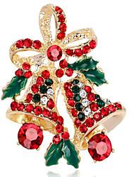 Недорогие -Жен. Синтетический алмаз Броши - Цветы Брошь Золотой / Серебряный Назначение Рождество