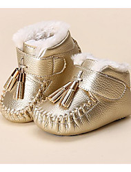 Baby Shoes Leatherette Fall Winter Comfort First Walkers Boots For Casual Blushing Pink Brown Dark Blue Gold