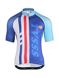 cheap -Cycling Jersey Men's Short Sleeves Bike Sweatshirt Top Breathability Terylene Letter & Number Summer Running/Jogging Mountain Cycling