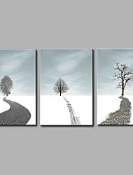 Hand-Painted Fantasy Horizontal Panoramic,Artistic Abstract Nature Inspired Rustic Birthday Modern/Contemporary Office/Business Cool