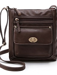 cheap -Women Bags PU Crossbody Bag Zipper for Casual All Seasons Black Red Dark Green Coffee Brown