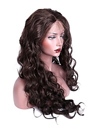cheap -Synthetic Lace Front Wig Body Wave Synthetic Hair Brown Wig Women's Long Lace Front Dark Brown