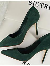 preiswerte -Damen Schuhe Lackleder Frühling Herbst Komfort Pumps High Heels für Normal Schwarz Orange Grau Rot Grün