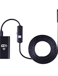 endoscópio câmera wifi 8mm 3.5m impermeável borescope para android usb ios windows pc serpente tubo