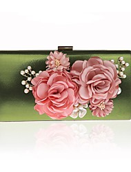 Women Bags All Seasons PVC Evening Bag Flower(s) for Wedding Event/Party Red Purple Light Green Fuchsia Wine