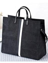 Damen Taschen Ganzjährig Leinwand Tragetasche Reißverschluss für Normal Schwarz Grau