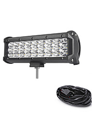 81W 8100LM 6000K 3-Rows LED Work Light Cool White Spot Offroad Driving Light for Car/Boat/Headlight IP68 9-32V  2m 1-To-1 Wiring Harness Kit
