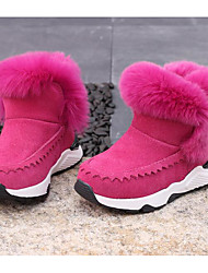Girls' Shoes Suede Fall Winter Comfort Snow Boots Boots For Casual Blushing Pink Gray Black