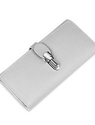 cheap -Women's Bags PU Wallet Ruffles for Shopping Casual All Seasons Black Gray Dark Green