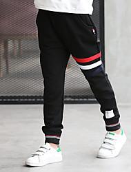 cheap -Boys' Solid Pants, Cotton Winter Stripes Black