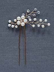 abordables -Perle Cristal Coiffure Pince à cheveux Épingle à cheveux with Fleur 1pc Mariage Occasion spéciale Fête / Soirée Casque