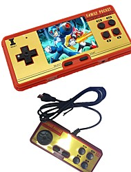 cheap -3.0 Classic Retro Handheld Game Player children's video game Console Built-in 638 Classic FC Games free cartridge 2nd Player Controller TV-Output