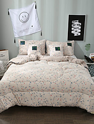 Comfortable 1pc Quilt,Polyester Hand-made Reactive Print Floral