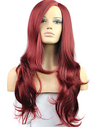 Women Synthetic Wig Lace Front Medium Length Long Wavy Straight Red Lolita Wig Party Wig Celebrity Wig Halloween Wig Carnival Wig Cosplay
