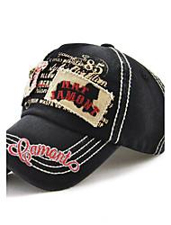 abordables -Unisexe Coton Actif Vacances Coupe-vent Chapeau de soleil Casquette de Baseball - Brodée, Couleur Pleine