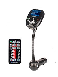 BT002 Universal Wireless Car MP3 Audio Player Bluetooth FM Transmitter With Remote Control HandsFree LCD Screen USB Charger