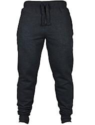 abordables -Hombre Pantalones de Running Gimnasio, Correr & Yoga Pantalones/Sobrepantalón Jogging Delgado Negro Azul Oscuro Gris oscuro Gris S M L XL