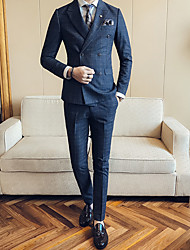 cheap -Men's Plus Size Casual/Daily Casual Fall Winter Suit
