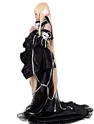 Inspirado por Chobits Chii Anime Fantasias de Cosplay Ternos de Cosplay Vestidos Cor Única Sem Manga Vestido Colar Mangas Para Feminino