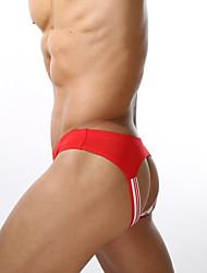 abordables -Hombre Súper Sexy Slip - Agujero, Un Color 1 Pieza Baja cintura