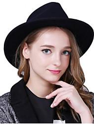 Недорогие -Для женщин Головные уборы Широкополая шляпа,Осень Зима Хлопок Смесь хлопка Однотонный Чистый цвет