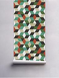 abordables -A Rayas Árboles y Hojas Fondo de pantalla Para el hogar Moderno / Contemporáneo Revestimiento de pared , PVC/Vinilo Material adhesiva