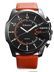 Недорогие -JUBAOLI Муж. Наручные часы Модные часы Спортивные часы Китайский Кварцевый Календарь Крупный циферблат Хронометр Кожа Группа На каждый