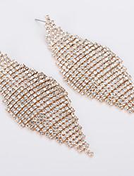 abordables -Boucle d'Oreille Pendantes Femme Zircon cubique Strass Bijoux Or Argent pour Mariage Soirée