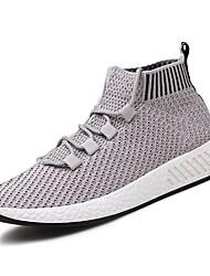 abordables -Homme Printemps / Automne Confort Chaussures d'Athlétisme Marche Noir / Gris / Noir / Rouge