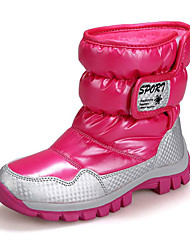 baratos -Para Meninas Sapatos Couro Envernizado Outono / Inverno Botas de Neve Botas para Preto / Roxo / Rosa claro