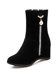 Feminino Sapatos Materiais Customizados Inverno Solados com Luzes Shoe transparente Botas de Neve Botas de Montaria Botas da Moda
