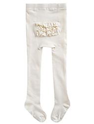 cheap -Girls' Stitching Lace Winter Fall Hosiery,Cotton Micro-elastic Ruffle White Blushing Pink Navy Blue Gray