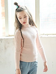 Girls' Solid Blouse,Wool Winter Fall Long Sleeve White Black Blushing Pink
